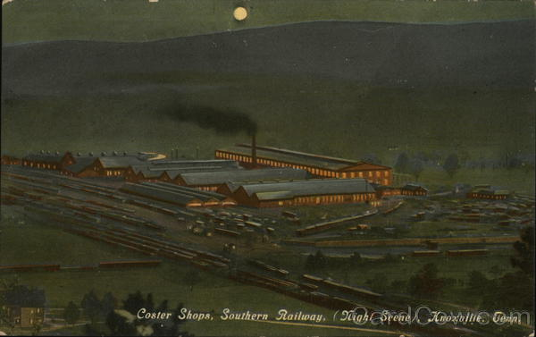 Coster Shops, Southern Parkway (Night Scene) Knoxville Tennessee