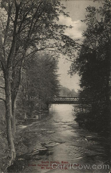 Brook Between Upper and Lower Lake, Mount Holyoke College South Hadley Massachusetts
