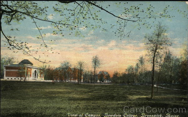 View of Campus, Bowdoin College Brunswick Maine