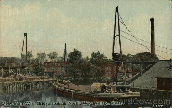 View from Weir Bridge Looking North Weir Village Massachusetts