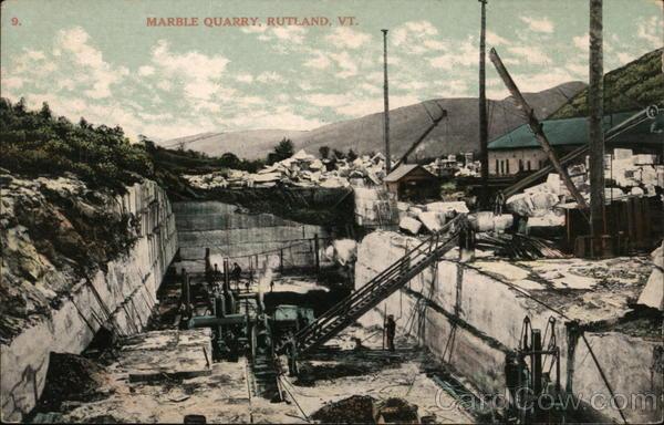 Marble Quarry Rutland Vt Postcard
