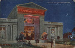 Canadian Pacific Building by Night - British Empire Exhibition, , London Postcard