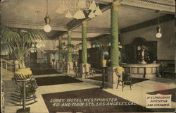 Lobby, Hotel Westminster, 4th and Main Streets