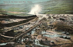 Scene on the Anvil Gold Mine Postcard