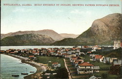 View of Town, Built Entirely by Indians Postcard