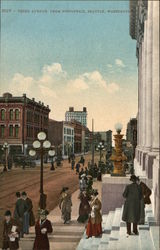 Third Avenue from Post Office Postcard