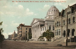 Hall of Records, Hall of Justice and St. James Hotel