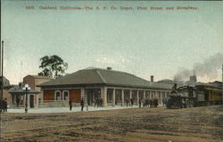 The S.P. Co. Depot, First Street and Broadway