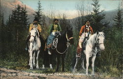 Gussie, Goodstoney and Sisters, Stoney Indians