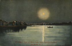 Moonlight View of Silver Lake from Gordon's Pavilion Postcard