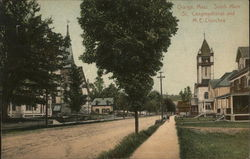 South Main Street and Congregational and M.E. Churches
