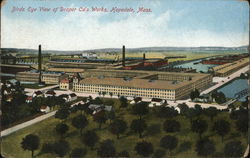 Bird's Eye View of Draper Company's Works Postcard