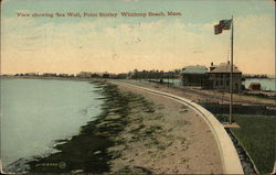 View Showing Sea Wall, Point Shirley