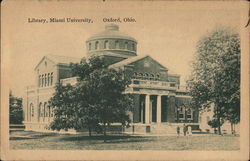 Library, Miami University Postcard