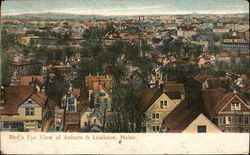 Bird's Eye View of Auburn and Lewiston