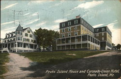 Peaks Island and Coronado-Union Hotel Postcard