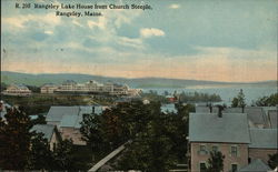Rangelely Lake House from Church Steeple