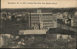 Looking West from Free Baptist Church in 1887