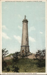 Myles Standish Monument Postcard