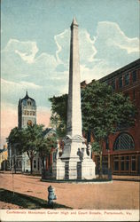 Confederate Monument Corner High and Court Streets