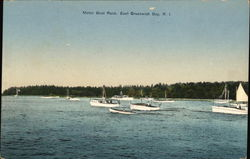 Motor Boat Race in the Bay Postcard
