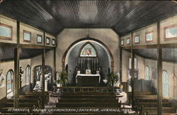 St. Francis Xavier Church (Cath.), Interior Postcard