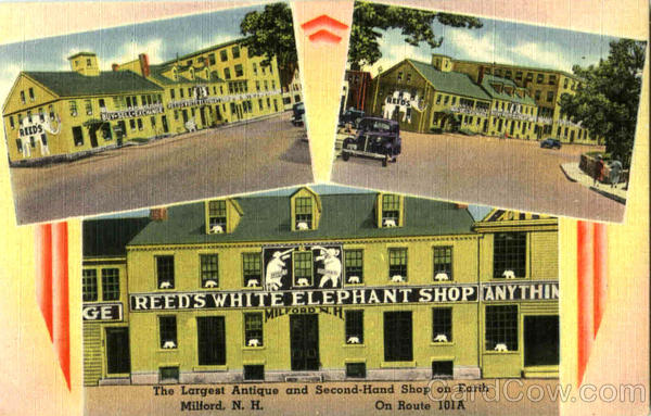 Reed's White Elephant Shop, On Route 101A Milford New Hampshire