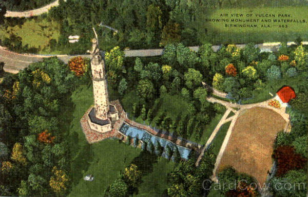 Air View Of Vulcan Park Birmingham Alabama