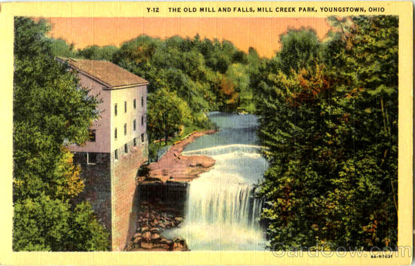 The Old Mill And Falls, Mil Crek Park Youngstown Ohio