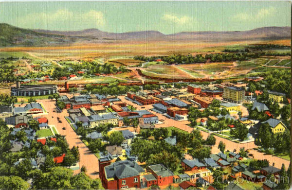 Bird's Eye View Of Raton New Mexico
