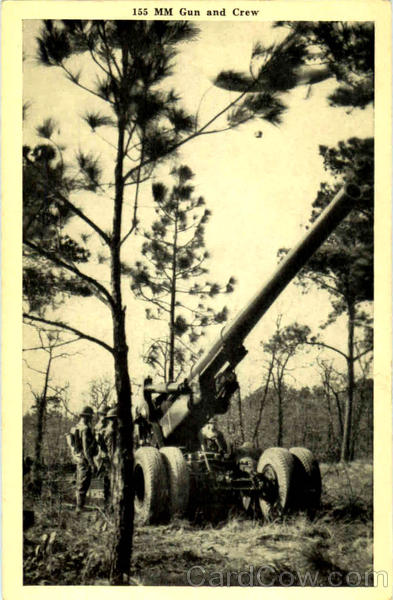 155 mm Gun And Crew Army