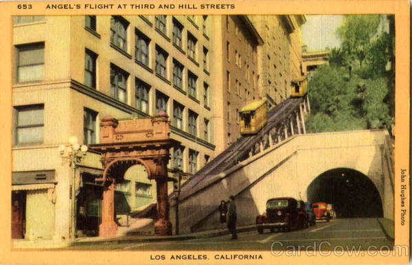 Angel's Flight At Third And Hill Streets Los Angeles California