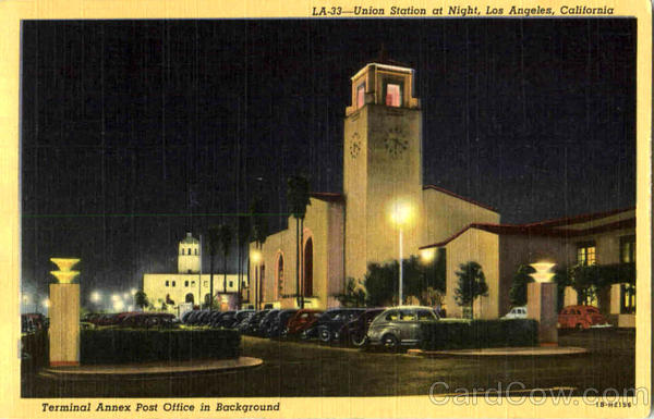 Union Station At Night Los Angeles California