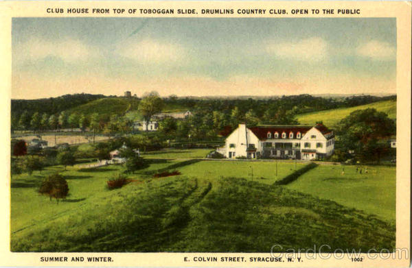 Club House From Top Of Toboggan Slide, E. Colvin Street Syracuse New York