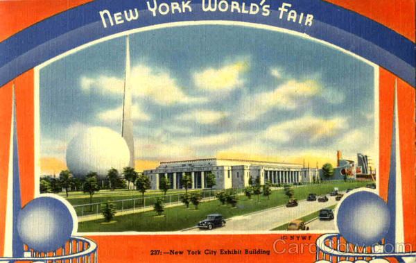 New York City Exhibit Building 1939 NY World's Fair