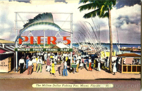 The Million Dollar Fishing Pier Miami Florida