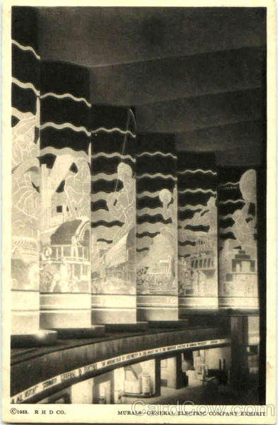 Murals General Electric Company Exhibit 1933 Chicago World Fair