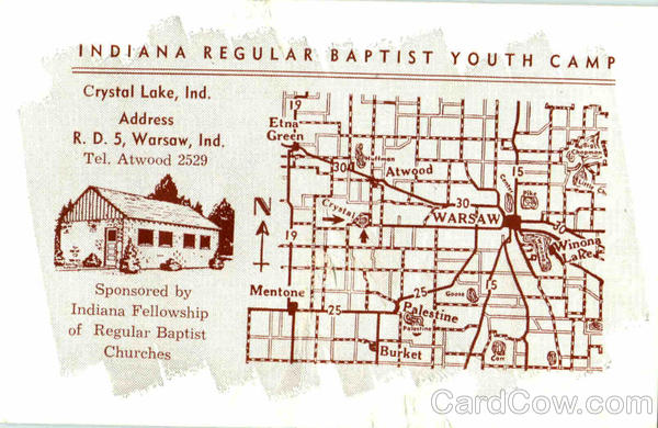Indiana Regular Baptist Youth Camp, R. D. 5 Warsaw