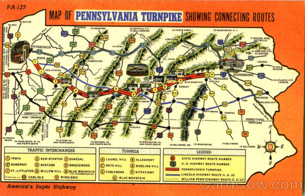 Map Of Pennsylvania Turnpike Tunrpike Maps