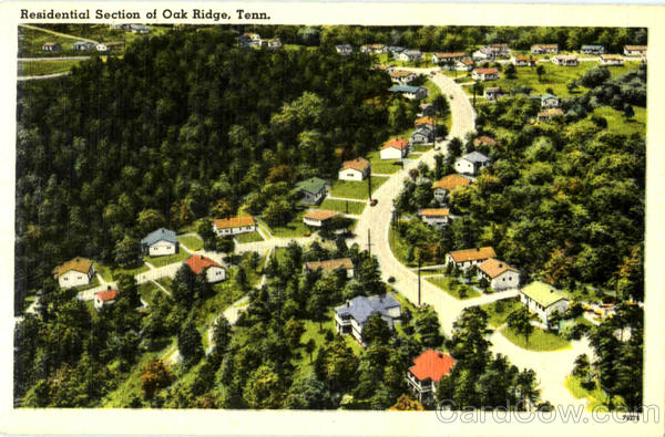 Residential Section Of Oak Ridge Tennessee