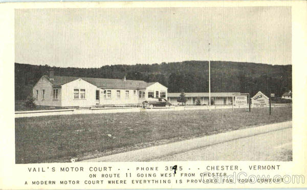 Vail's Motor Court Chester Vermont