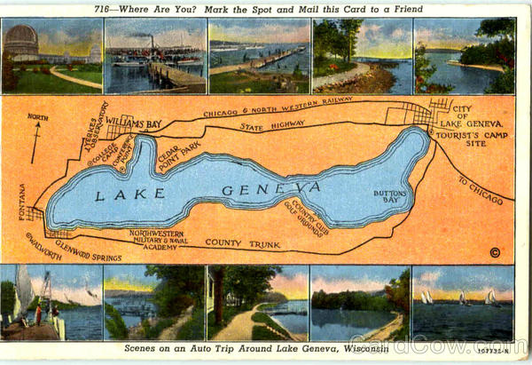 Scenes On An Auto Trip Around Lake Geneva Scenic Wisconsin