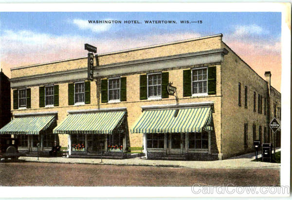 Washington Hotel Watertown Wisconsin