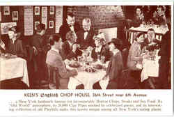 Keen's English Chop House, 72 West 36th Street