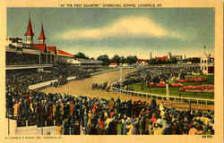 At The First Quarter Churchill Downs Postcard