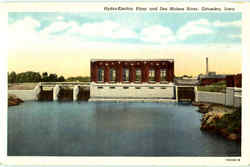 Hydro-Electric Plant And Des Moines River