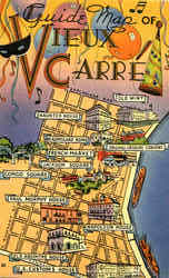 Guide Map Of Vieux Carre