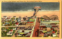 Air View Of Old Orchard And Ocean Pier