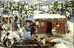 Trappers In Winter Camp