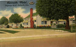 Riverside Motel, Highways 35 & 7 Postcard